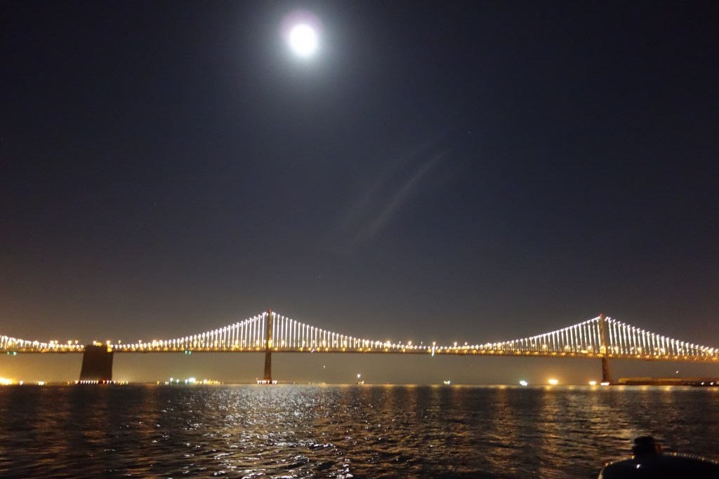 Bay Bridge in the moonlight