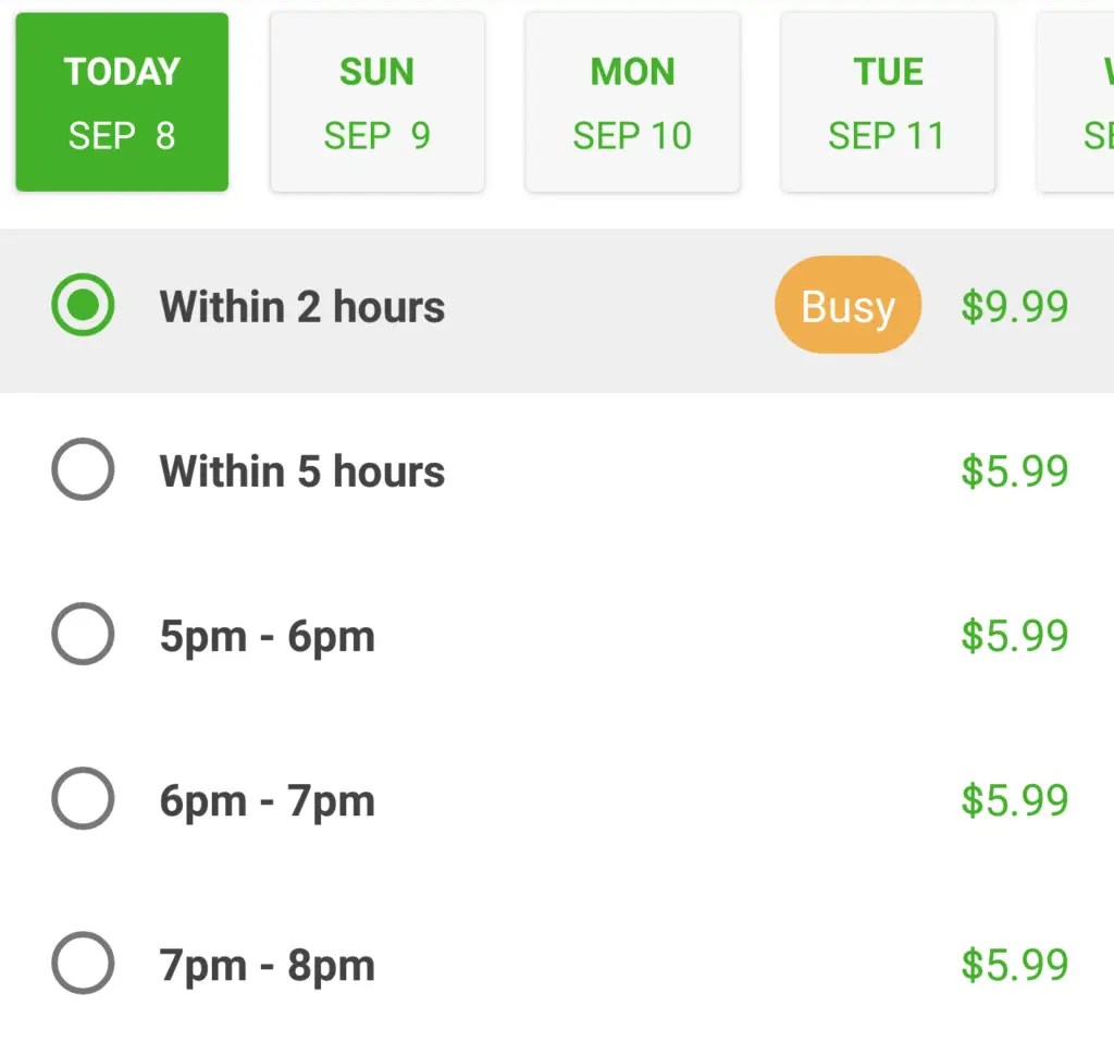 Instacart review - Busy pricing