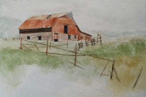 Guest Artist,Barry Marler, watercolorist, a study in the barns of Colorado