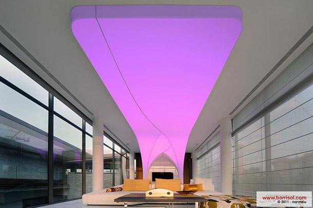 Barrisol Lumire Color Plafond Tendu Lumineux