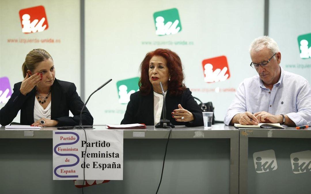 El Partido Feminista se integra formalmente en IU