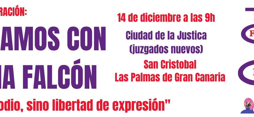 14 Diciembre a las 9h : APOYO A LIDIA FALCÓN – LAS PALMAS DE GRAN CANARIA