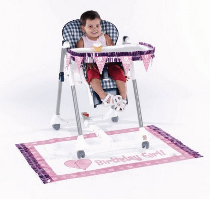 1st Birthday Party Ideas High Chair Deco pink