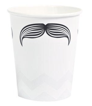 mustache cups, mustache party supplies