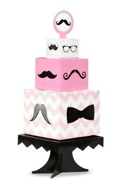 pink mustache party centerpiece, birthday party ideas for girls, girls birthday party ideas, mustache birthday party