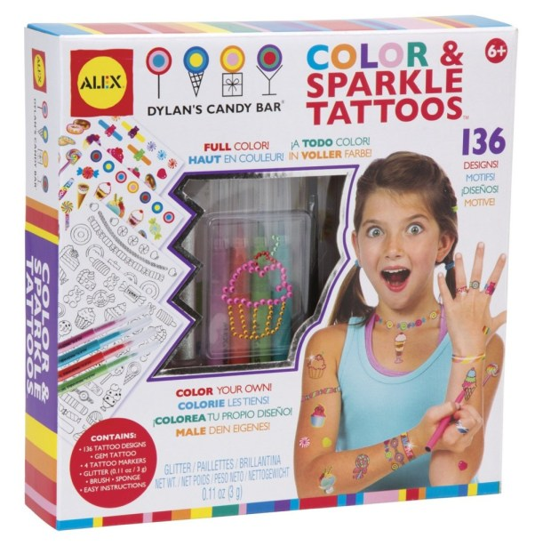 Color & Sparkle Tattoos Alex Toys, Girls Spa Party Ideas