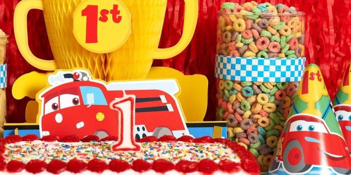 Disney Cars 1st Birthday Theme 01