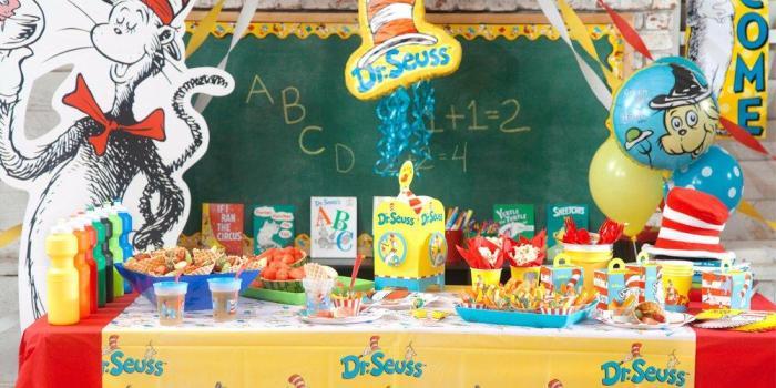 Dr Seuss 1st Birthday Theme