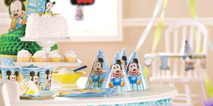 Mickey's First Birthday Party Theme