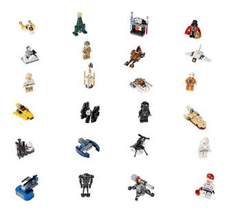 LEGO Star Wars Advent Calendar pieces