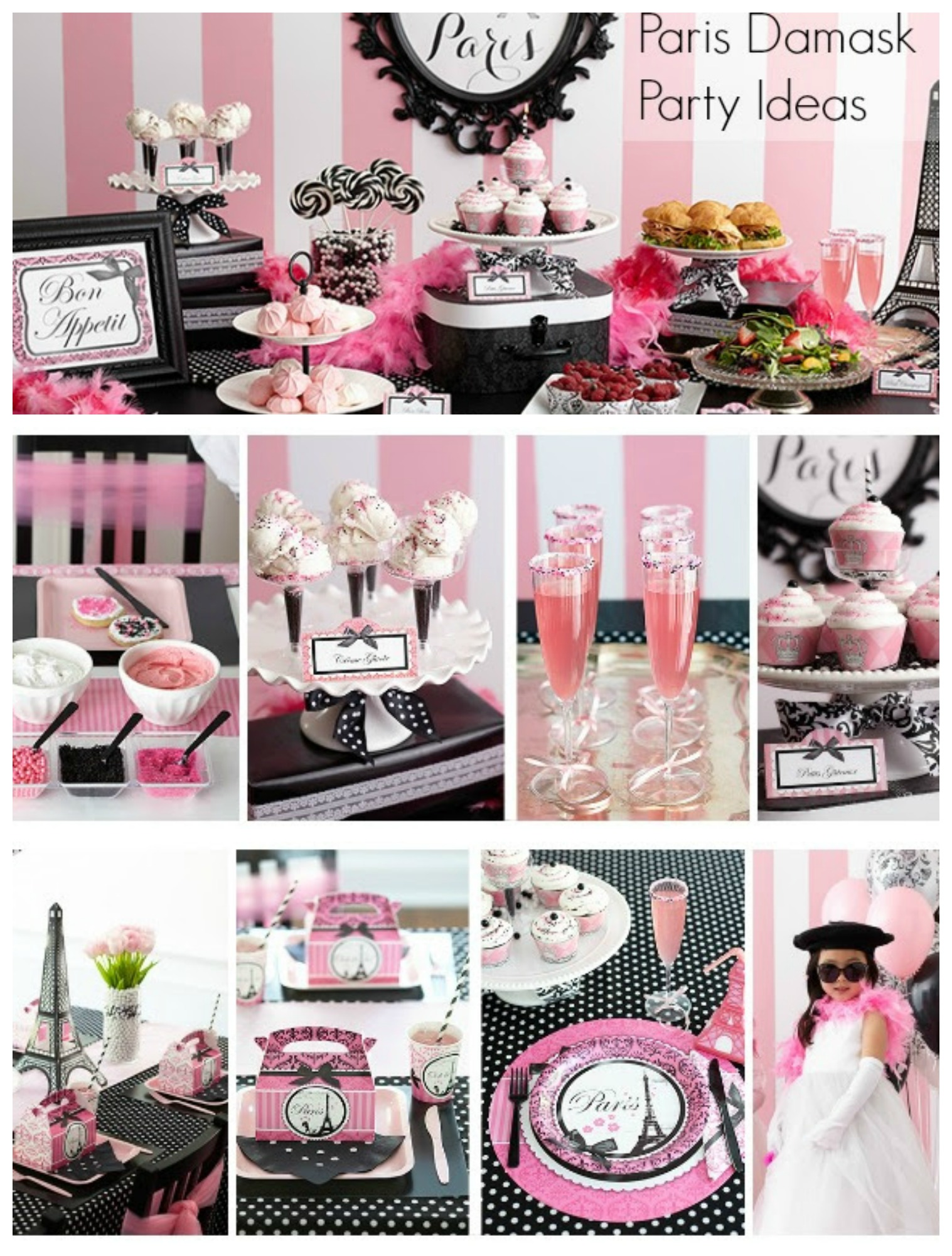 Paris themed birthday party ideas for French inspired party food