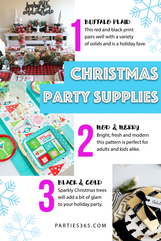 looking for inspiration for your christmas party decor we have 4 fabulous christmas party plate