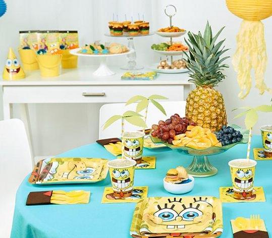 spongebob party supplies