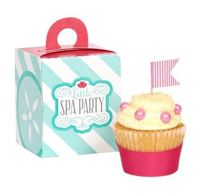 spa party cupcake ideas