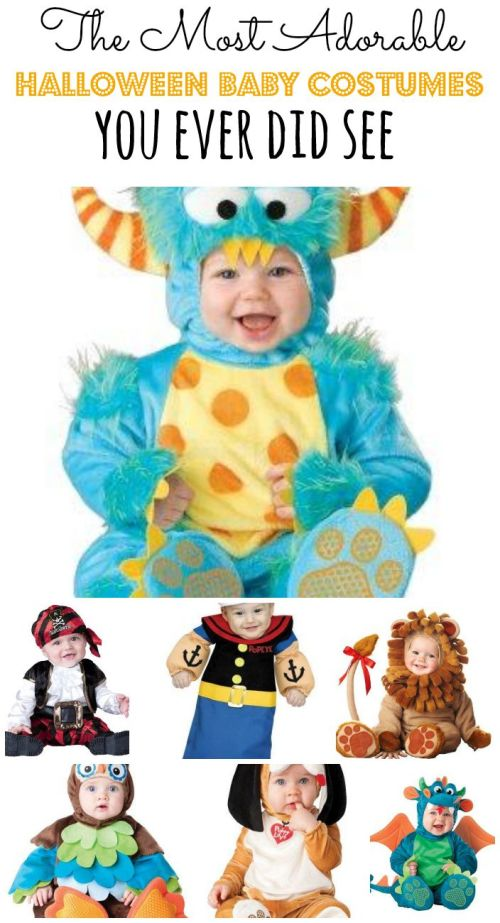 Warning: the following Halloween baby costumes are cuteness overload and might make you smile. From puppies and peacocks, to pumpkins and Peter Pan, you'll find something for your baby girl or baby boy.