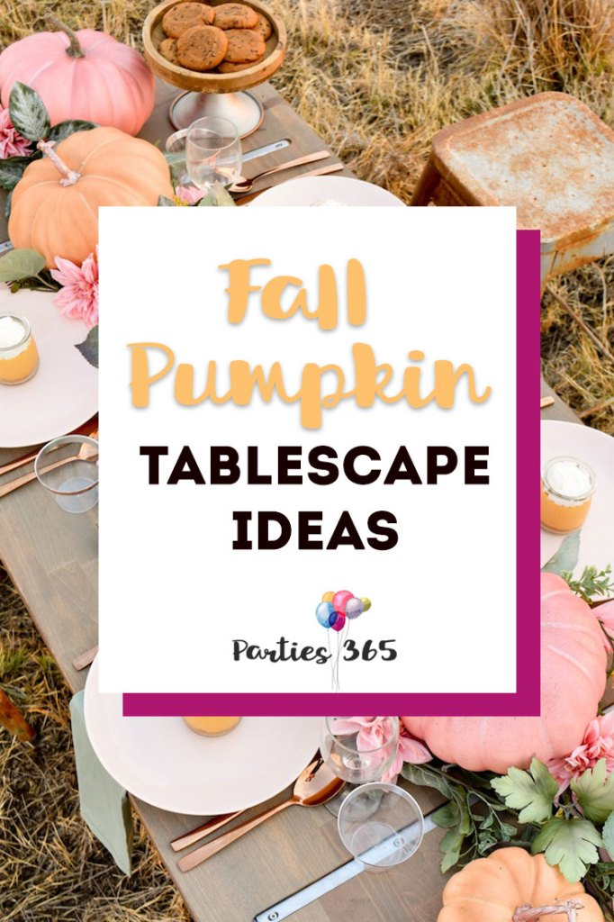 Are you looking for inspiration for a autumn centerpiece or maybe a Thanksgiving table idea? If so, we found 7 amazing fall pumpkin tablescape ideas you'll absolutely love! | Fall Table Centerpieces | Pumpkin Tablescapes | Thanksgiving Tablescapes