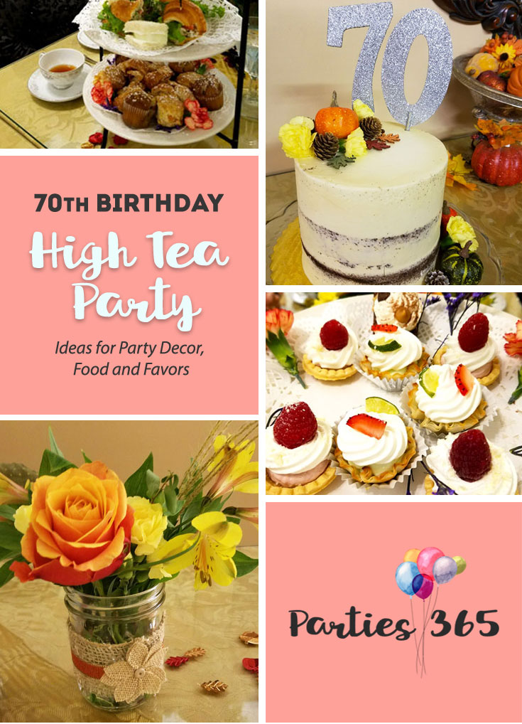 Need inspiration for a 70th Birthday Party Theme? Why not host an elegant Tea Party? Check out the fall-themed tea party we threw for my Mom's 70th birthday! | 70th Birthday Party | Tea Party Decor | Tea Party for Adults | Tea Party Ideas