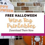 Halloween Wine Tag Printables
