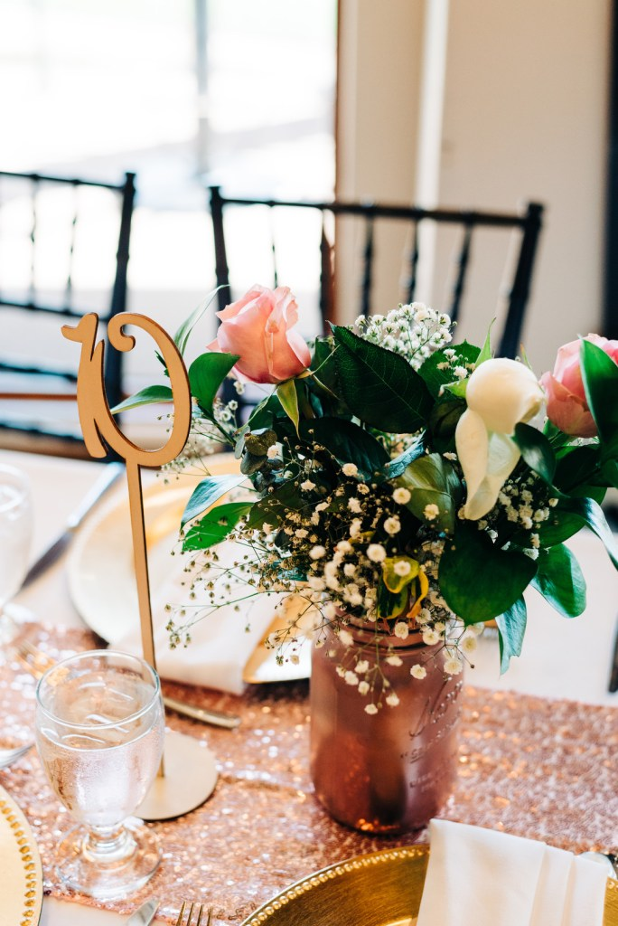 Rose gold party decorations are perfect for all kinds of party themes. Check out how they were used in this stunning combination 18th Birthday Party and Graduation Party! | Rose Gold Party Theme | Rose Gold Party Ideas
