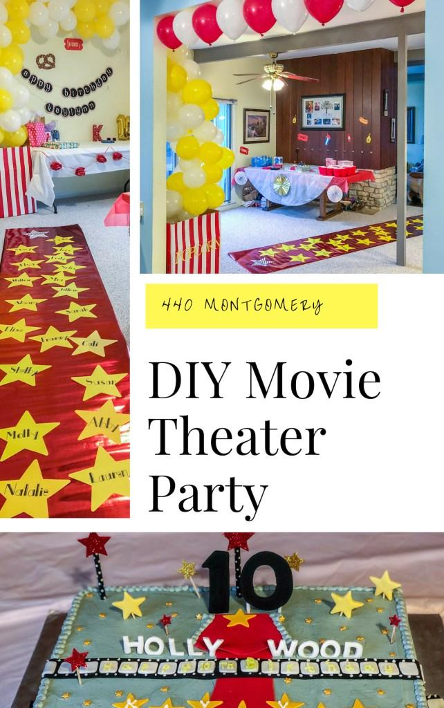 DIY Movie Theater Birthday Party