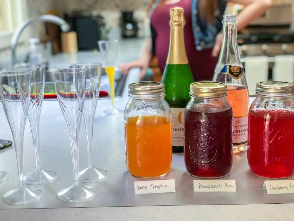 Unique Bridesmaid Proposal Idea: DIY Bridesmaid Brunch with Gift Box Mimosa Bar