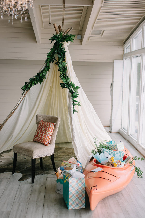 11 Simple and Neutral Baby Shower Theme Ideas: Camping and Glamping Theme