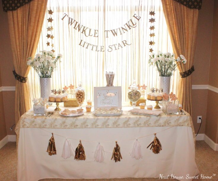 11 Simple and Neutral Baby Shower Theme Ideas: Twinkle Twinkle Little Star