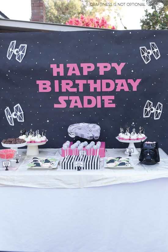 15 Girly Birthday Theme Ideas for Little Girls : Girly Star Wars Party