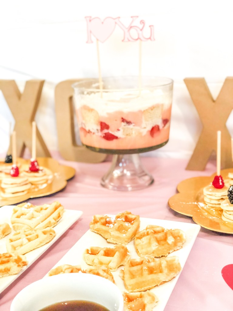 A Galentine's Day Brunch Party Decorations and Food