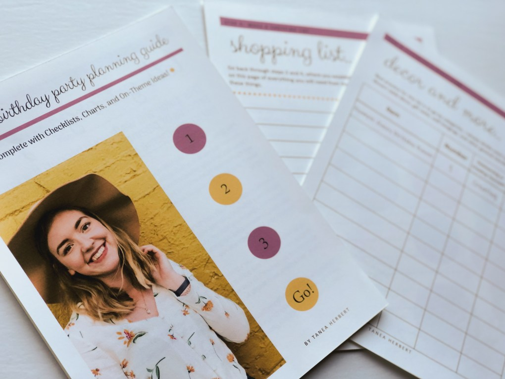 Planning a Birthday Party for Kids Printable Checklist and Guide