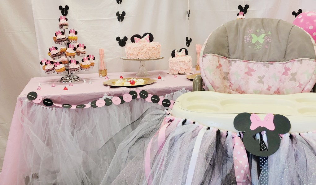 Awe Inspiring Diy 1St Birthday Minnie Mouse Party Parties By Tanea Funny Birthday Cards Online Alyptdamsfinfo