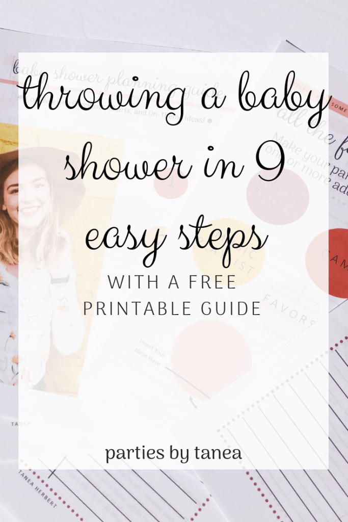 Planning a Baby Shower in 9 Easy Steps with Free Printable Guide. This free, printable baby shower planning guide will help you plan the perfect baby shower without the stress! Budgets? Timeline? Decoration? We have it!