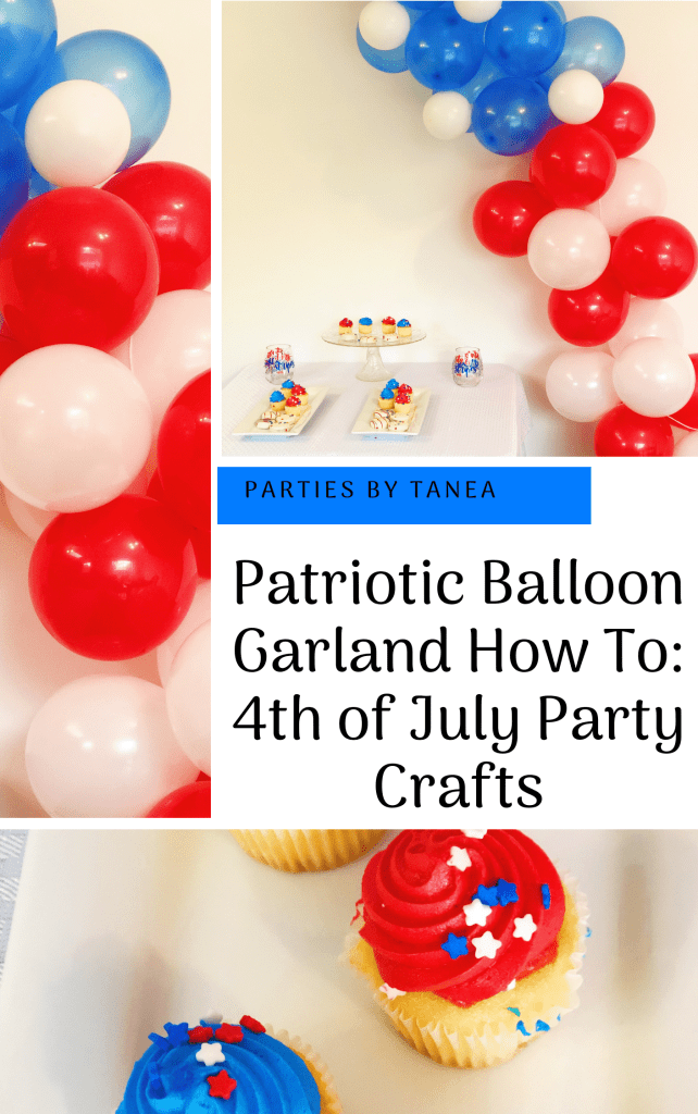 Patriotic Party Balloon Garland - A 4th of July Decoration Craft and Party Idea  Wanting to add a little something to your patriotic party coming up? This simple balloon garland is a great place to start and it's super easy for beginning balloon artists.