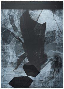 Eva Walker, Sequenz I-10, Radierung auf Papier, 77 x 55,5 cm, 2020