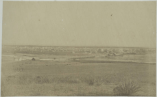 One of the earliest photographs of Denver, in 1868, looking across the South Platte River to the already burgeoning city. Image courtesy Denver Library Western History & Genealogy Collection.