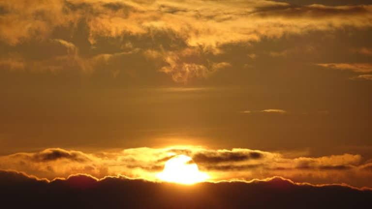 Levée de soleil Adam's Peak sri lanka