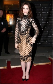 Another sexy but subtle red carpet look of netting and lace.