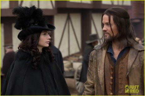 Janet Montgomery as Mary Sibley and Shane West as John Alden