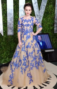 Another Vanity Fair party in blue again