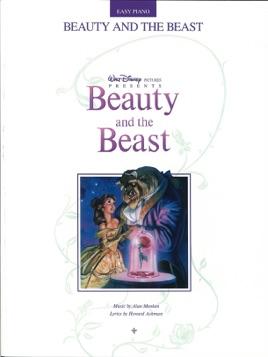 la bella y la bestia songbook piano