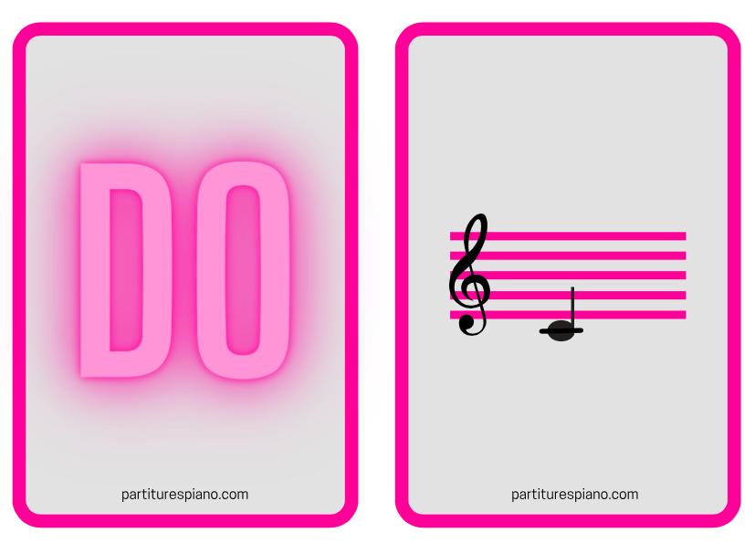 Baraja de cartas clave de sol partiturespiano ejemplo de pareja