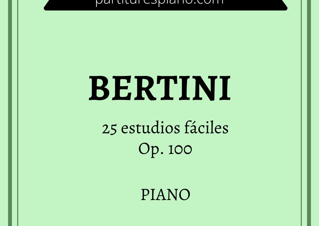 bertini 25 estudios fáciles op. 100