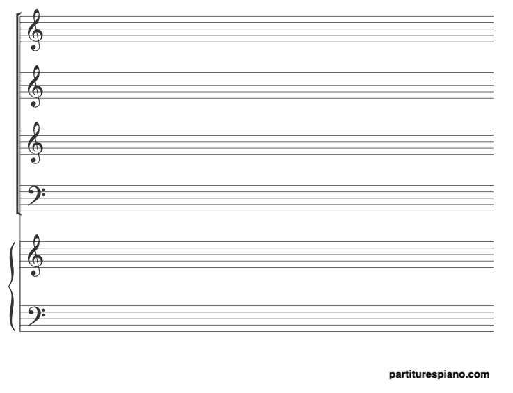 papel pautado stab + piano