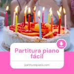 cumpleaños feliz partitura piano fácil