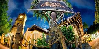Atração Pirates of the caribbean