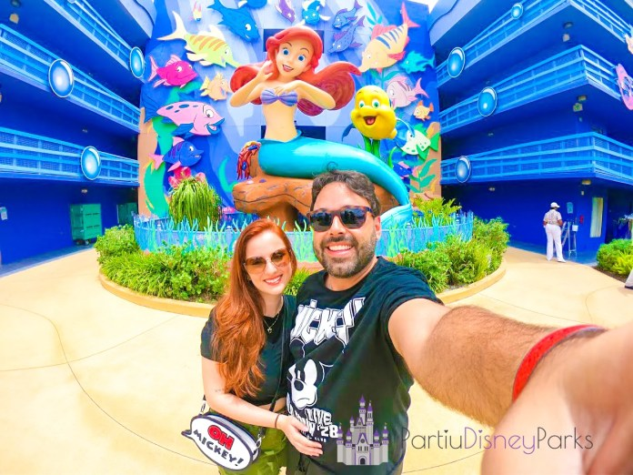 Art of Animation - Pequena Sereia Carlos e Nath - Partiu Disney Parks