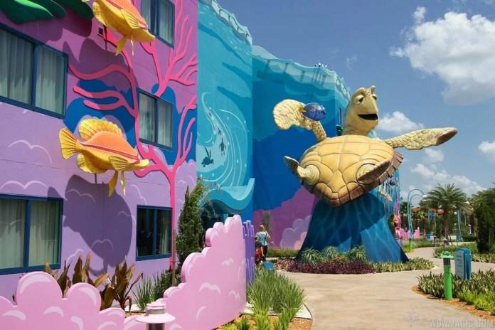 Ala de Procurando Nemo no Art of Animation da Disney
