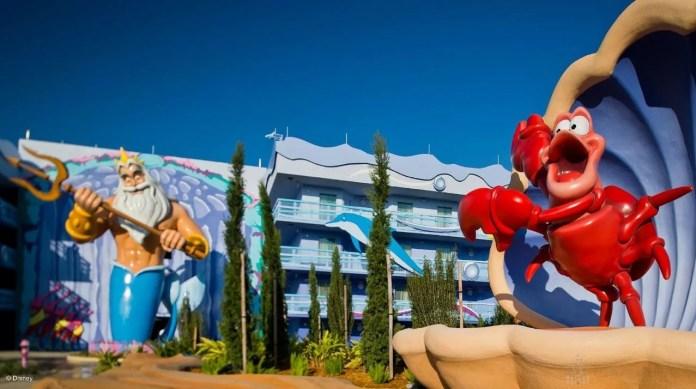 Ala da Pequena Sereia no Art of Animation da Disney