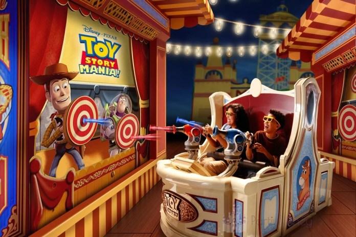 O Toy Story Mania é a atração favorita dos mais jovens