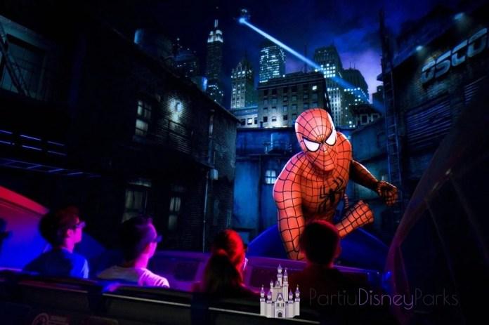 A atração The Amazing Adventures of Spider-Man